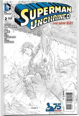 Superman Unchained #2 1:300 Sketch Variant Jim Lee Dc Comics 2015