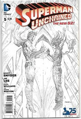 Superman Unchained #5 1:300 Sketch Variant Jim Lee Dc Comics 2015