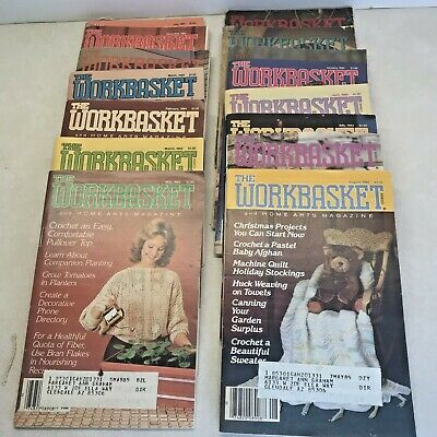 Vintage Workbasket Magazines Lot of 15 From 70s and 80s
