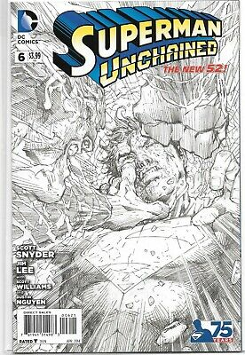Superman Unchained #6 1:300 Sketch Variant Jim Lee Dc Comics 2015