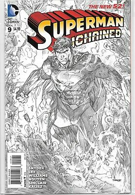 Superman Unchained #9 1:100 Sketch Variant Jim Lee Dc Comics 2015