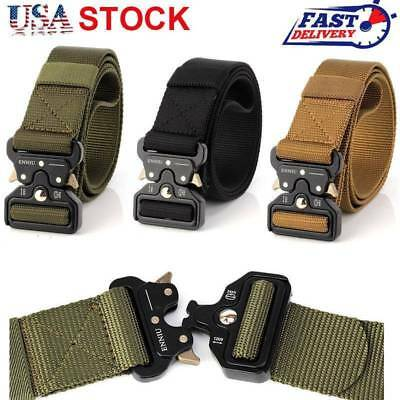 Men Tactical Heavy Duty Multifunctional Nylon Buckle Army Military Combat Belts