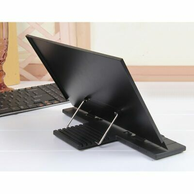 Portable Book Stand Frame Holder Adjustable with 7 Tilt for home Reading Black