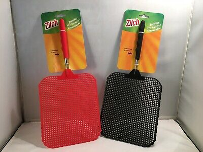 Zilch Jumbo 19x16 cm Fly Swatter Extendable – up to 76 cm - for Home and Garden