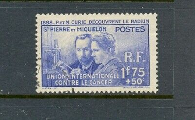 1939  St. Pierre & Miquelon Sc# B3 Used  Curie Issue