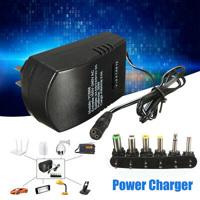 Universal 3,4.5,6,7.5,9,12V 2.5A Power Supply AC/DC Wall Charger Adapter NEW