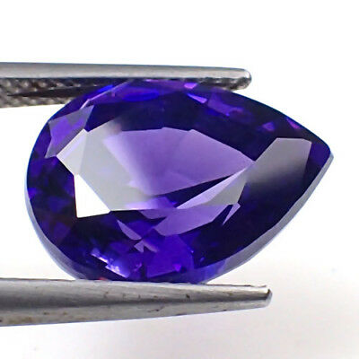 Attractive Russian CZ AMethyst Violet  Cubic Zirconia 13.10t Pear Shape gem