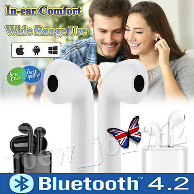i7s Wireless Bluetooth Earphone Stereo Earbuds Headset For iPhone Samsung Huawei
