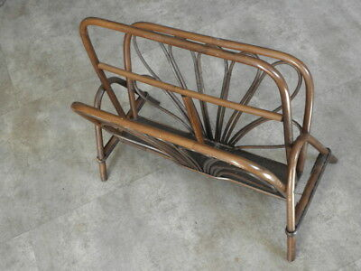 RETRO VINTAGE storage MAGAZINE RACK stand Newspaper Rack ROOM TIDY wicker rattan