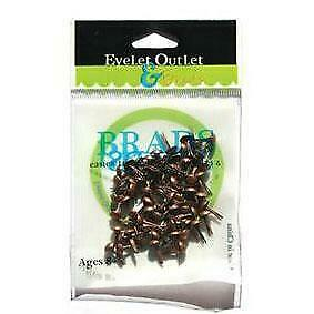 NEW Eyelet Outlet Round Brads 4mm 70 pack - Brushed Copper