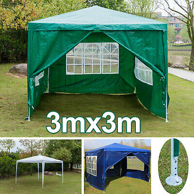 Heavy duty 3 meter gazebo marquee outdoor party tent gazibo gazeebo or panels