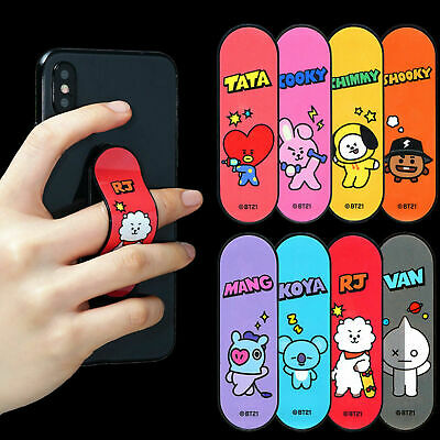 Kpop BTS Adjustable Phone Holder Stick Cartoon Cell Phone Stand Strap MANG COOKY