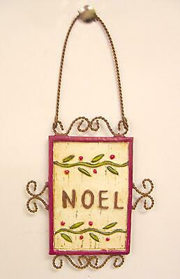 """Pacific Rim Antique Copper """"Noel"""" Holly Berry Christmas Ornament 6.5"""""""