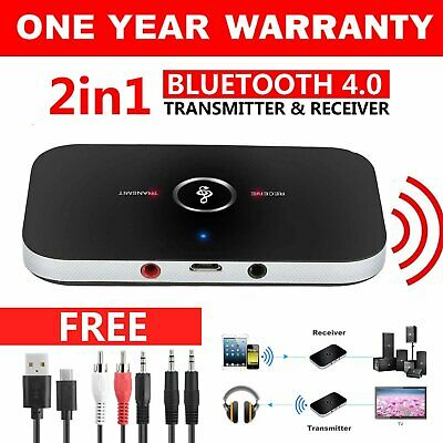 HIFI Bluetooth Wireless 2 in1 Audio Transmitter Receiver 3.5MM RCA Music Adapter