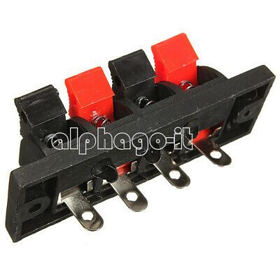 5PCS NEW 4 Way Push Release Connector Plate Stereo Strip Block Speaker Terminal