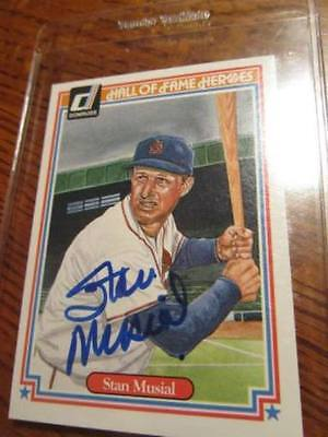 1983 Donruss Hall of Fame Heroes Stan Musial Auto Signed Card HOF