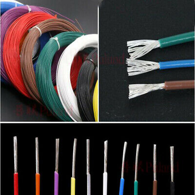 25 ~ 30AWG Insulated Copper Wire Silver Plated Single Core 0.05mm² PTFE Wire