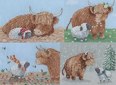 Highland Family The Four Seasons Cross Stitch Chart Pack