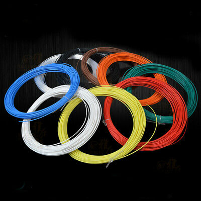 20 ~ 24AWG PTFE Wire Silver Plated Insulated Copper Cable Colored 0.05mm²