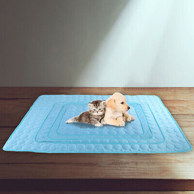 Pet Dog Cat Bed Cooling Ice Pad Comfort Mat Summer Chilly Breathable Sleep Mat