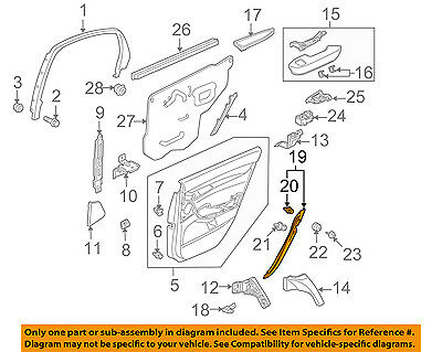 Rear Right Genuine Hyundai 89494-3N500 Seat Duct Assembly