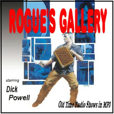 Rogues Gallery Old Time Radio Show OTR 23 Episodes on 1 MP3 DVD Free Shipping