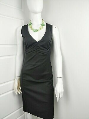 09b717e5211e Sisley Womens Black Sleeveless Knee Length A Line Fitted Occasion Dress X  Small