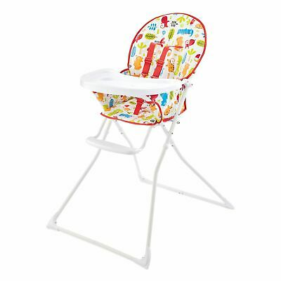 Portable Baby Highchair With Feeding Tray Padded Seat 6+ Mths Damaged Box