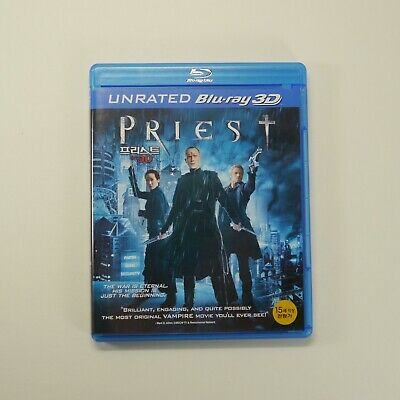 Priest 3D Blu-ray [Korea Edition, Region Free, Unrated, 1Disc] Paul Bettany 2011