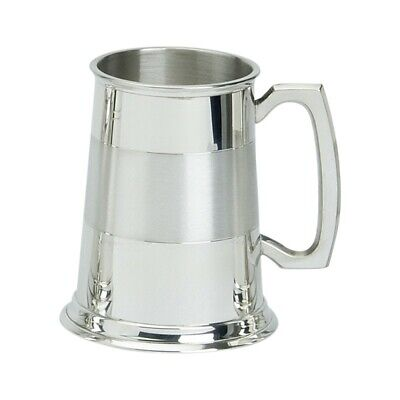 1pt Satin Band Pewter Tankard