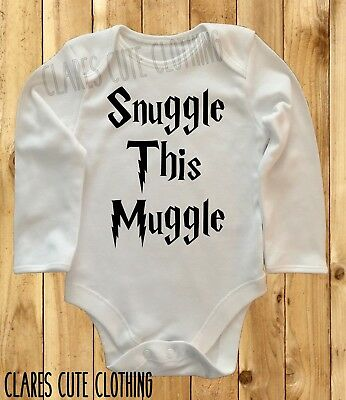 dads a muggle mums a witch Harry Potter Novelty Funny babygrow bodysuit