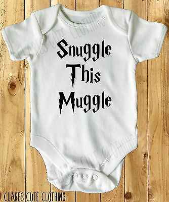 THIS MUGGLE LOVES SNUGGLES POTTER INSPIRED BABY VEST// GROW all sizes available