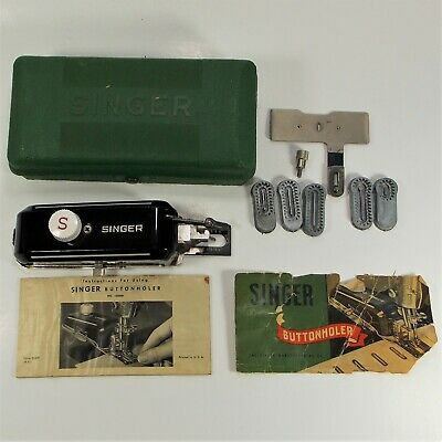Singer Buttonholer 160506 In Original Case With Accessories And Instruction Book