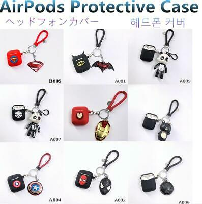 Silicone Case Cover Protective Skin Keychain Bag for Apple Airpod Charging Case