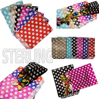 "5""x7""  PICK AND MIX PAPER BAGS CANDY STRIPE POLKA DOTS SWEET GIFT PARTY SWEETS"