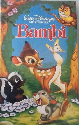 VHS Walt Disneys Meisterwerk: Bambi (Buena Vista Home Video) FSK oA Zeichentrick