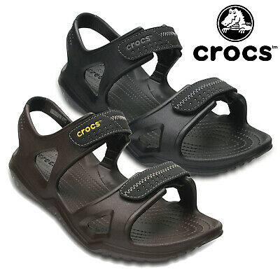 Crocs Mens Swiftwater River Sandals Adjustable Croslite Hook & Loop Summer Shoes