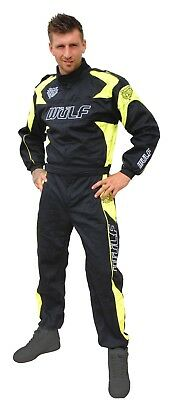 Wulfsport racing overalls orci spec black and flo yellow