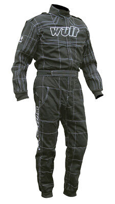 Wulfsport racing overalls orci spec black and white