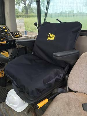 JCB Seat cover made to order and embroidered with logo