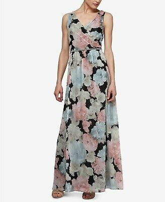 SL Fashions Beaded-Waist Floral Chiffon Gown MSRP $119 Size 4 # 3B 560 NEW