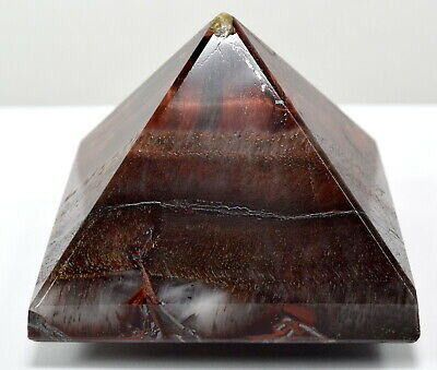 55mm 155g Red Tiger's Eye Pyramid Polished Crystal Mineral Stone Specimen Africa