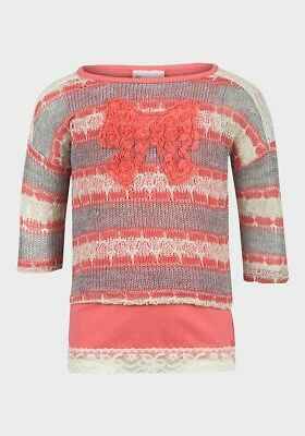 Little Lass Girls Jumper With Vest Combo Age 2, 3, 4, 5 & 6