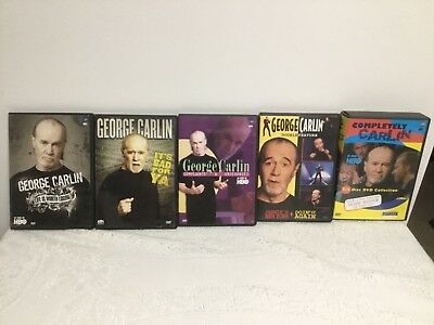George Carlin 5 Dvd Stand Up Comedy Lot – 10 Total Shows