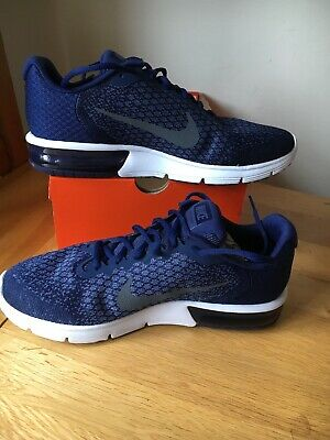 882beb637d NIKE AIR MAX Sequent 2 Uk Size 11 Binary Blue Dark Grey. Mens 852461 ...