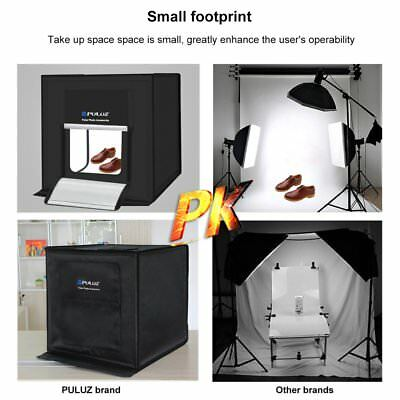 PULUZ 40*40cm Foldable LED Light Box Photo Studio Photography Tent Box Kit GN✯
