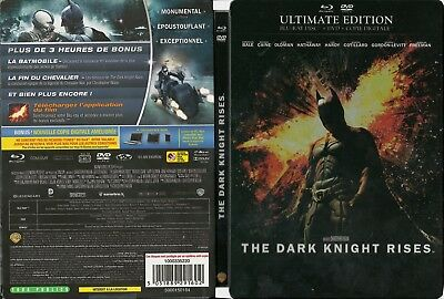 THE DARK KNIGHT RISES  2 BluRay + DVD  ULTIMATE STEELBOOK comme neuf multi zones