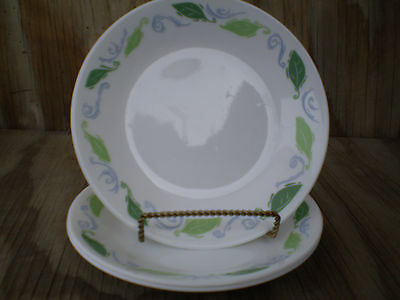 Corelle Dishes Spearmint White Small Bread & Butter Or Dessert Plates 3 Ct