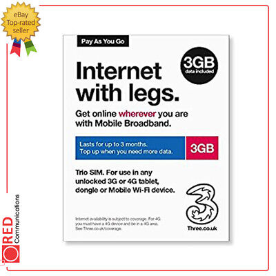 Three Data Sim - Internet With Legs 3GB Trio Sim Lasts For Up To Three Months