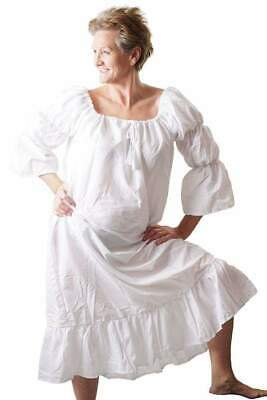 """Steampunk-Gothic-Regency-LARP-Re enactment PIRATE WENCH WHITE CHEMISE up to 30"""""""